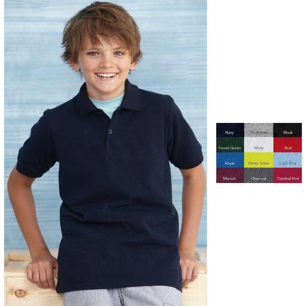 Personalized Gildan (R) Youth DryBlend Pique Sport Shirt