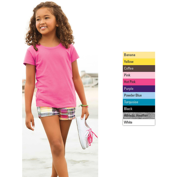 Personalized Girls Jersey Short Sleeve Tee