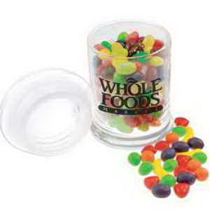 Imprinted Glass Jar with Teenie Beenie Jelly Beans