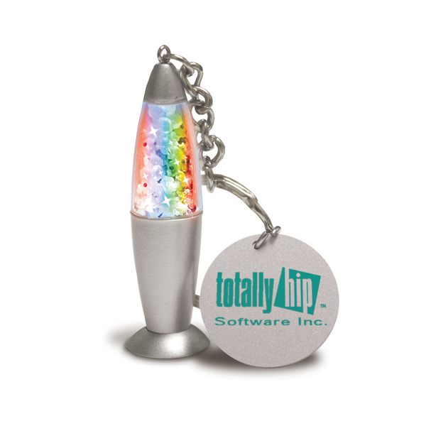 Customized Glitter Glow Keychain