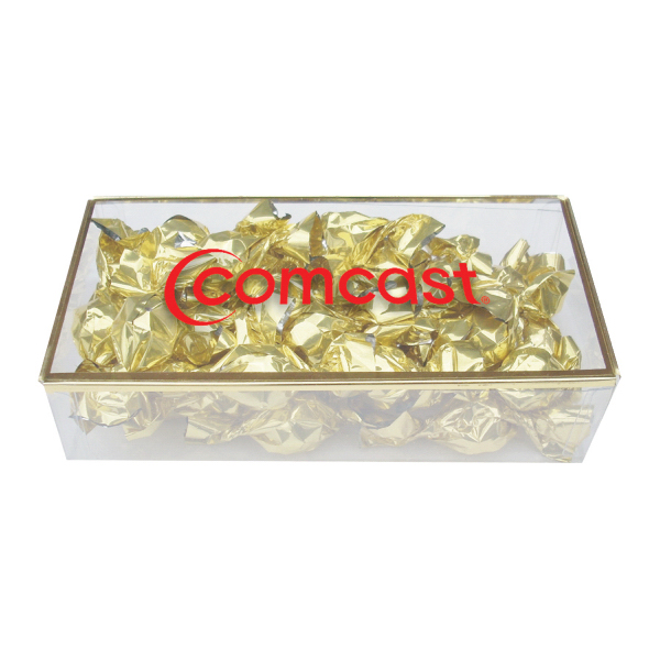 Customized Golden Favorites Box with Chocolate Truffles