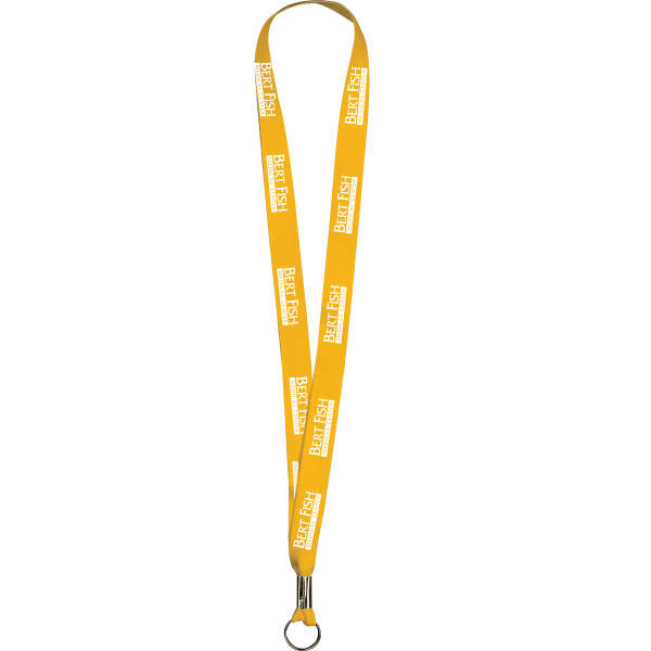 "Customized Golden Yellow Polyester Lanyards 5/8"" x 36"" - Value Lanyards"