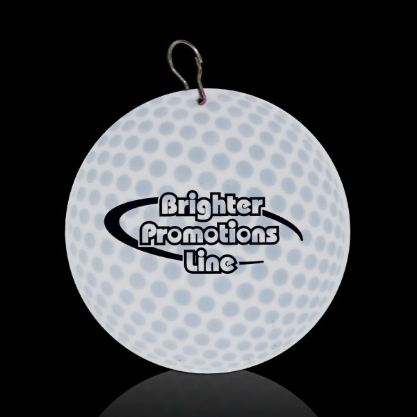 "Custom Golf Ball 2 1/2"" Plastic Medallion"