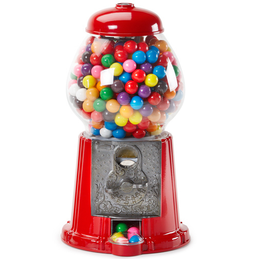Imprinted Gumball Machine 11 inch with Chocolate Candy