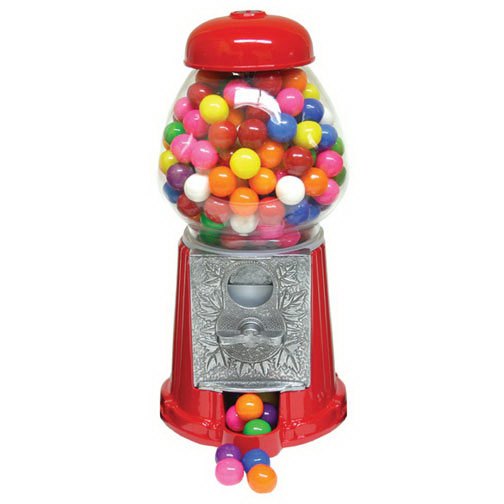 Personalized Gumball Machine 9 inch with Chocolate Candy