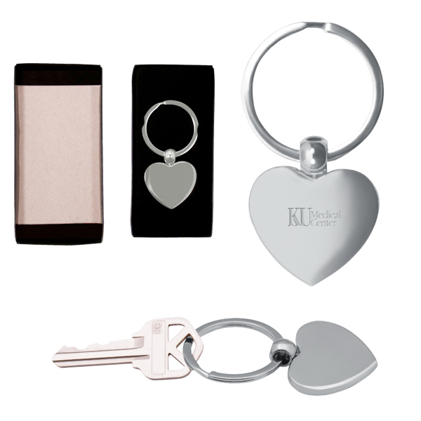 Personalized Heart Metal Key Chain
