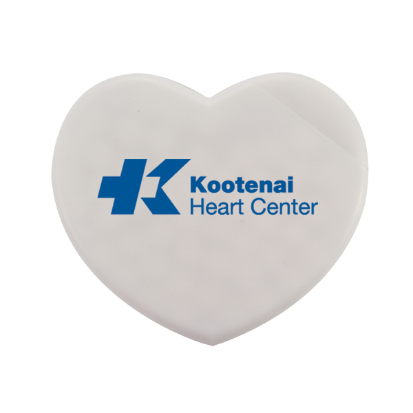 Promotional Heart-Shaped Plastic Mint Card with Sugar-Free Mint