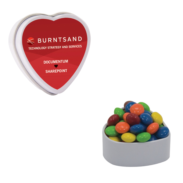Personalized Heart Shaped Tin With Chocolate Littles