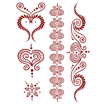 Imprinted Henna: All Heart Temporary Tattoo Set