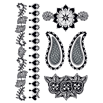 Promotional Henna: Deeply Black Temporary Tattoo Set