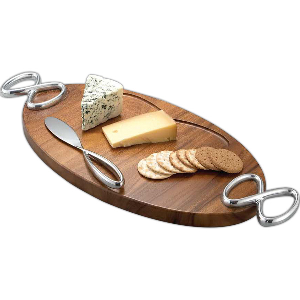 Customized Infinity Cheese Board with Knife
