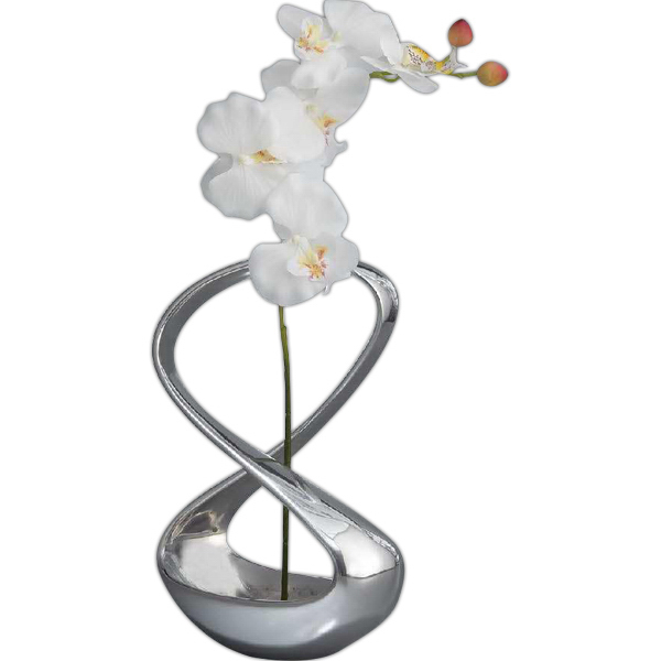 Promotional Infinity Vase with Silk Orchid