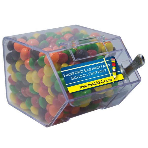 Personalized Large Candy Bin with Skittles- Candy Dispenser