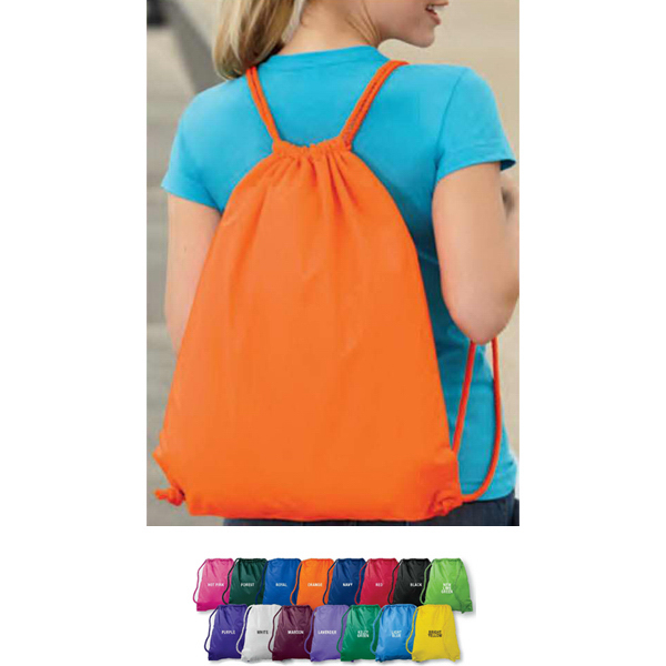Personalized Large Drawstring Backpack