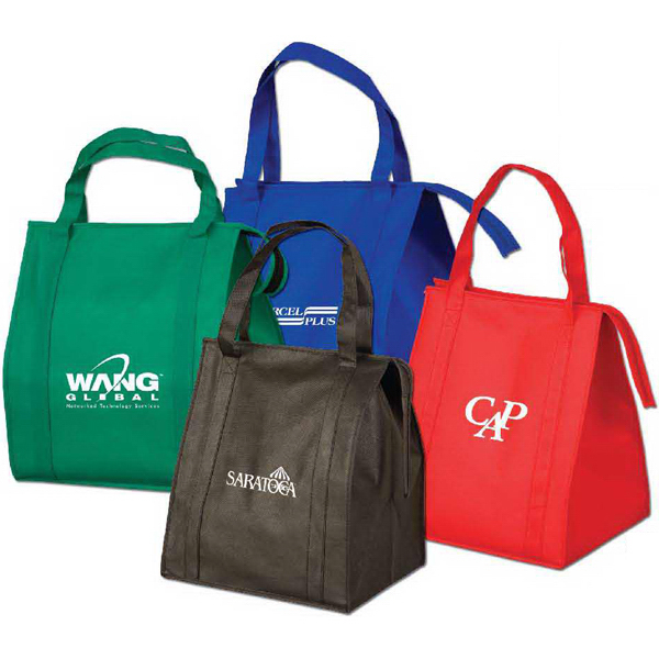 Imprinted Large Insulated Grocery Tote Bag