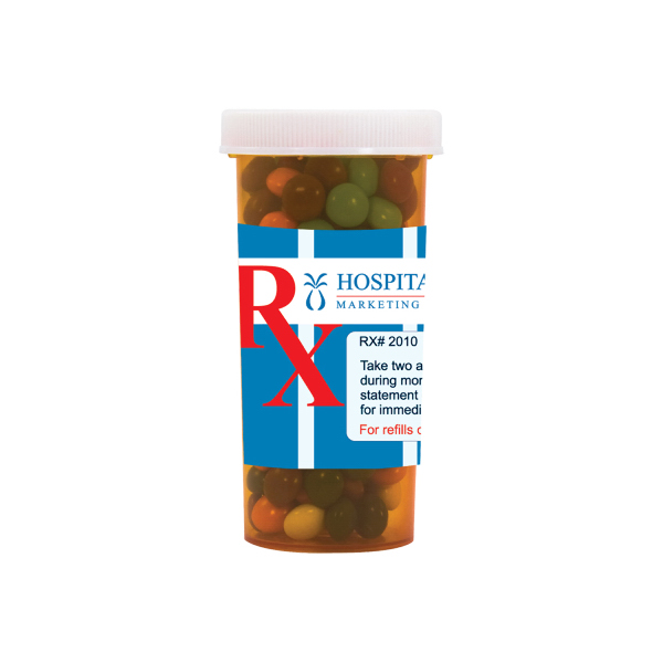 Custom Large Pill Bottle with Chocolate Littles