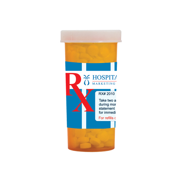 Personalized Large Pill Bottle with Sugar-Free Mints