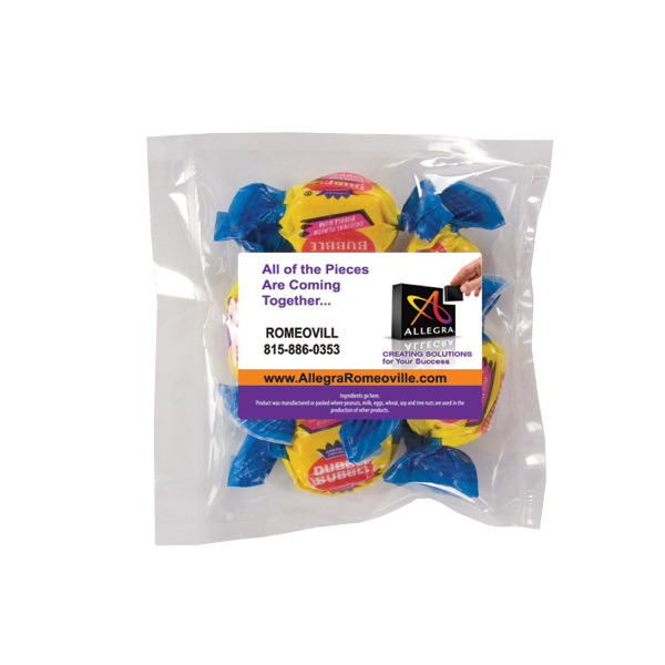 Customized Large Promo Candy Pack with Bubble Gum