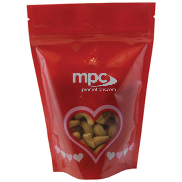 Customized Large Window Bag with Cashew Nuts - Valentine - Heart