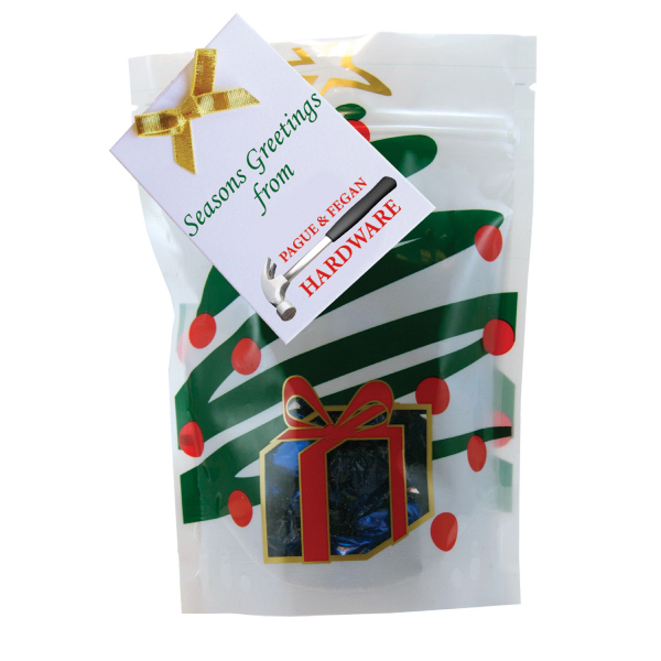 Customized Large Window Bag with Hard Candy - Foil Candy - Holiday Tree