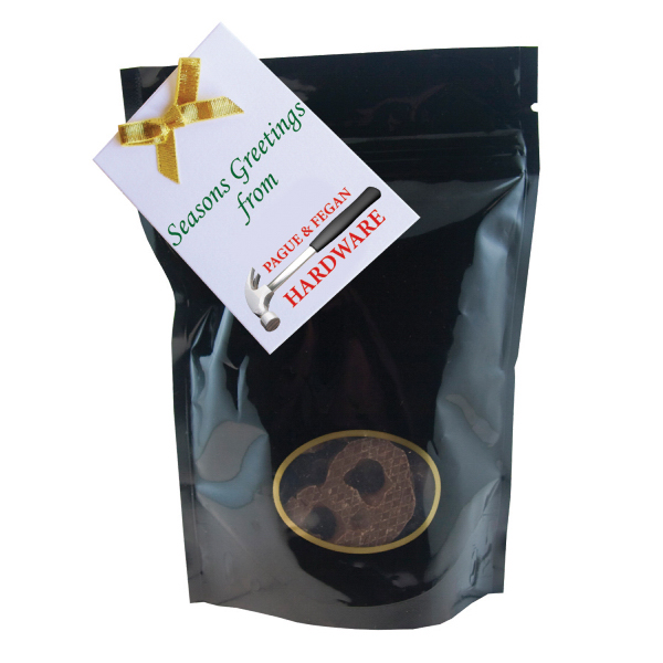 Promotional Large Window Bag with Mini Chocolate Pretzels - Bag