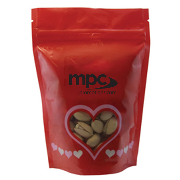 Customized Large Window Bag with Pistachio Nuts - Valentine - Heart