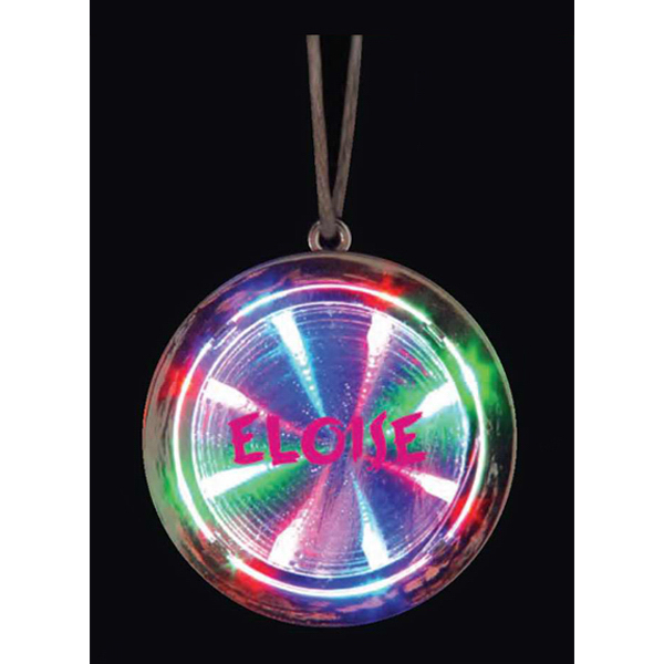Printed LED tunnel necklace