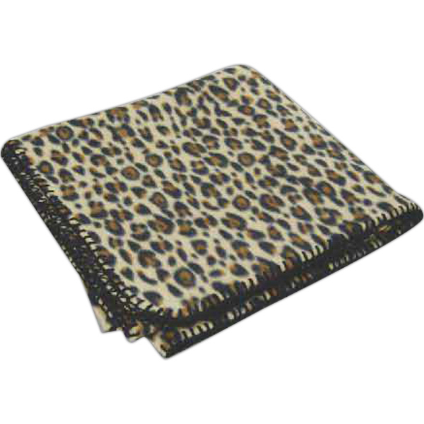 Custom Leopard Fleece Blanket