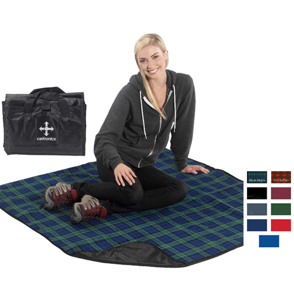 Customized Lined Polar Fleece Picnic Blanket