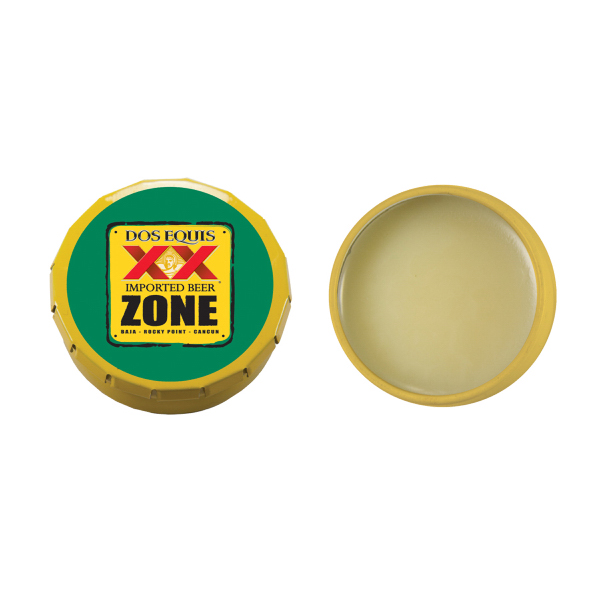 Printed Lip Balm Snap Top Tin -Yellow