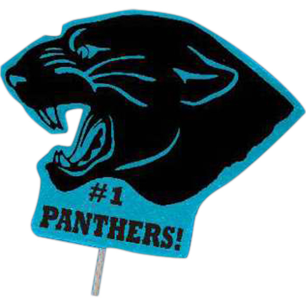 Promotional Mascot on a Stick - Panther