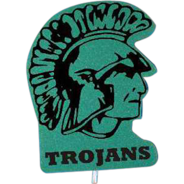 Custom Mascot on a Stick - Trojan