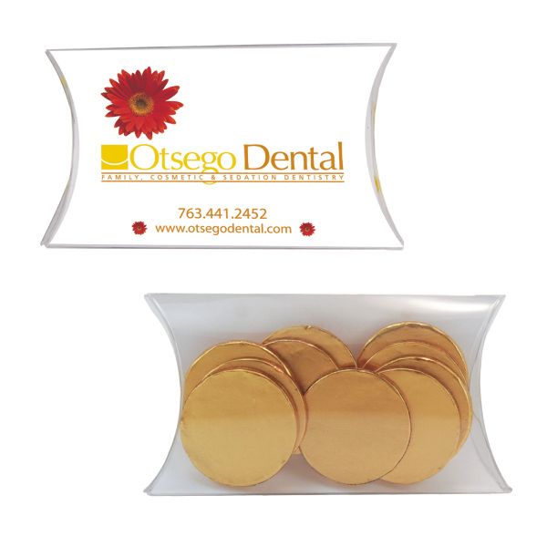 Printed Medium Pillow Pack with Chocolate Coins
