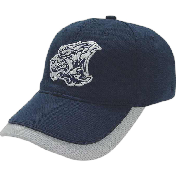 Printed Medium Profile Cap with Visor Insert and Piping