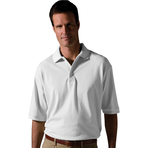 Imprinted Men's Short Sleeve All Cotton Pique Polo