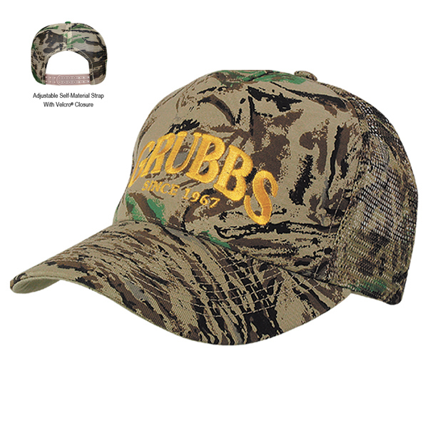 Imprinted Mesh Back Camouflage Cap