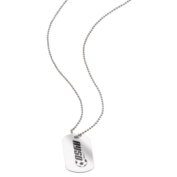 Personalized Metal Dog Tag with Ball Chain (Full Color Direct Imprint)