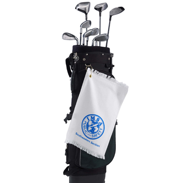 Promotional Mid Weight Velour Fringed Golf Towel