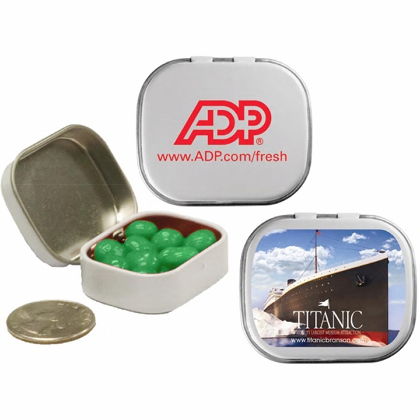 Imprinted Mini Tin with Spearmint Breath Mints