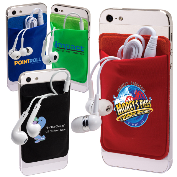 Custom Mobile Device Pocket & Earbuds Set