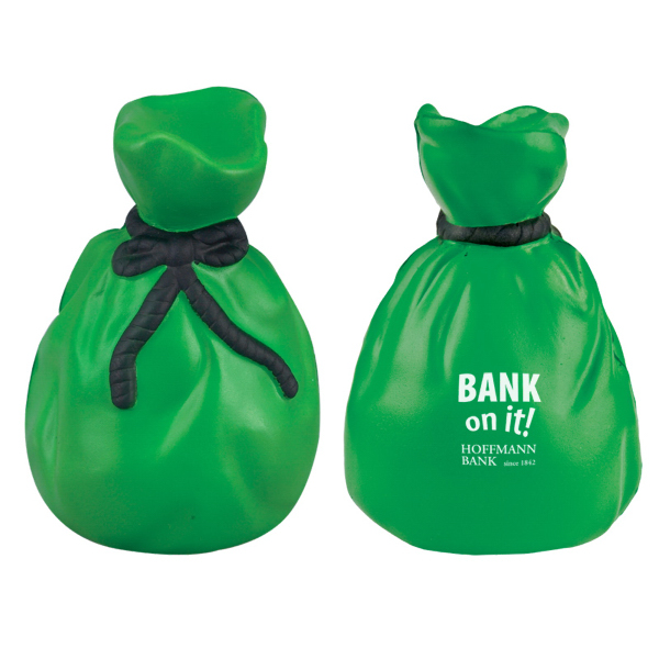 Imprinted Money Bag Stress Reliever