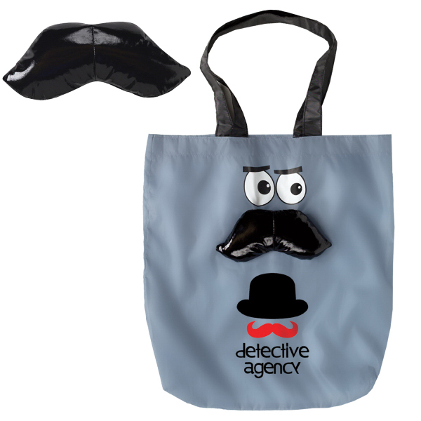 Customized Mustache Convertible Tote
