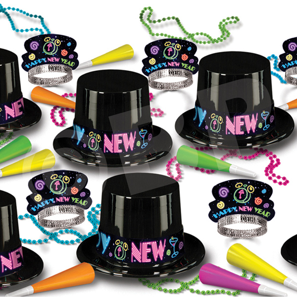 Personalized Neon New Year's Eve Party Kit for 50