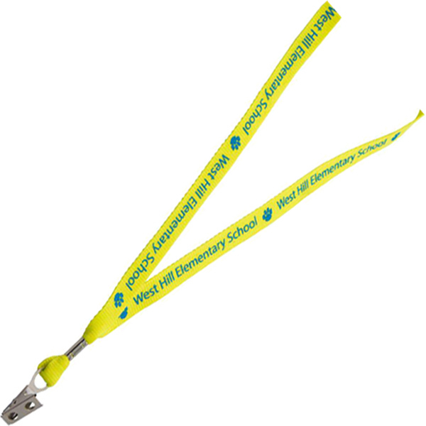 Personalized Neon Polyester Web Lanyard
