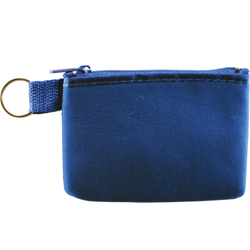 Printed Neoprene Zippered Keychain Pouch