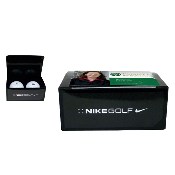 Personalized Nike (R) 2-Ball Business Card Box