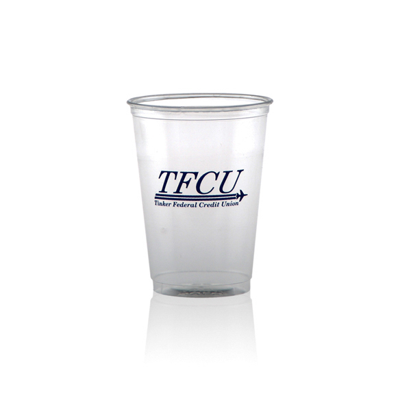 Imprinted Offset Soft Sided Clear Cup 10oz