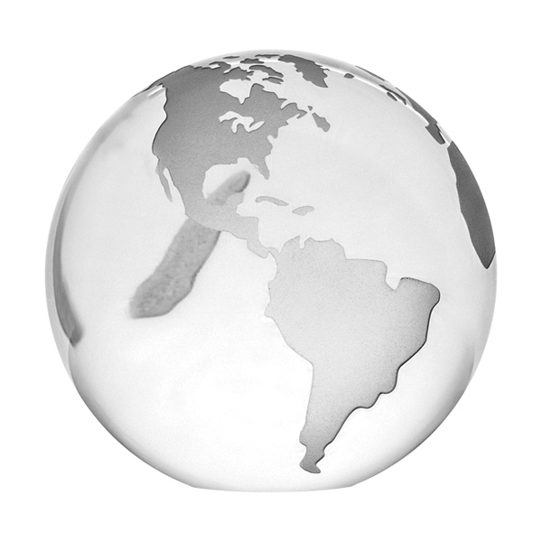 Promotional Optical Crystal Globe Paperweight