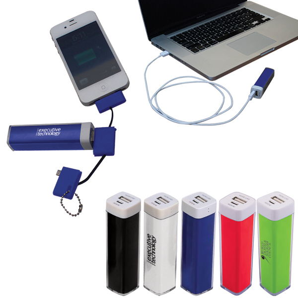 Imprinted Plastic Power Bank Emergency Battery Charger