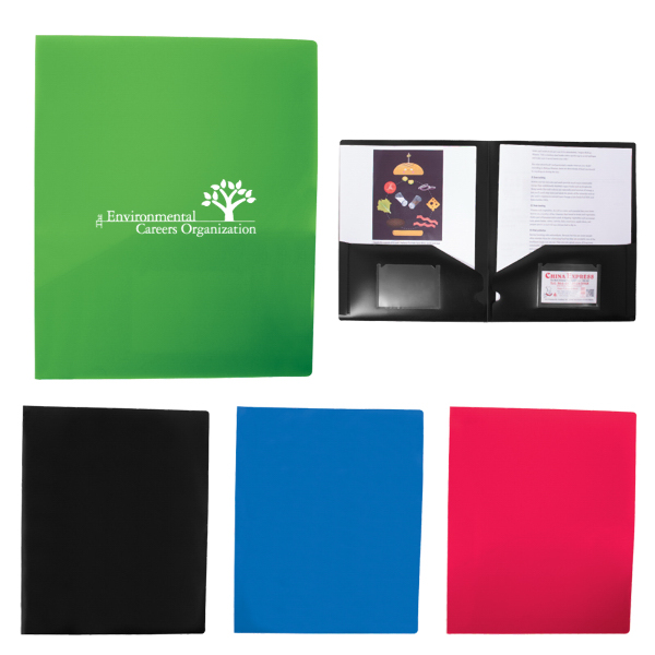 Personalized Polypropylene 2 Pocket Folder
